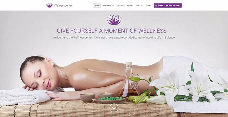 Wellness center themes wordpress creer site web spa