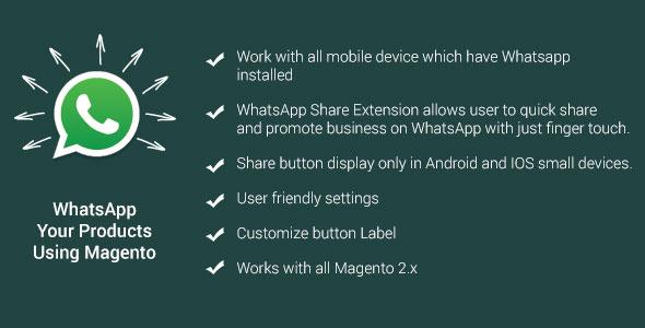 Whatsapp share magento plugin magento pour partage social