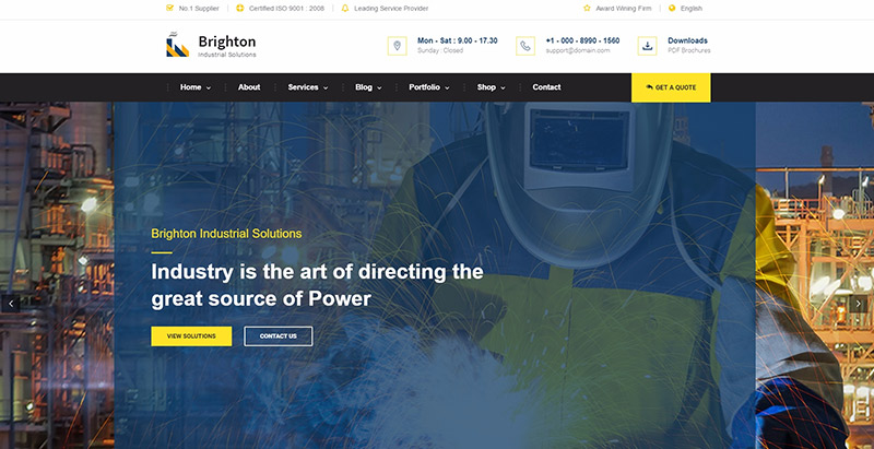 Brighton themes wordpress creer site web entreprise agence cabinet