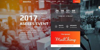 Eventia Themes Wordpress Creer Site Web Evenements Conférences Seminaires