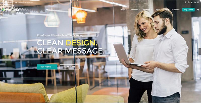 Fortuna themes wordpress creer site web agence marketing 1