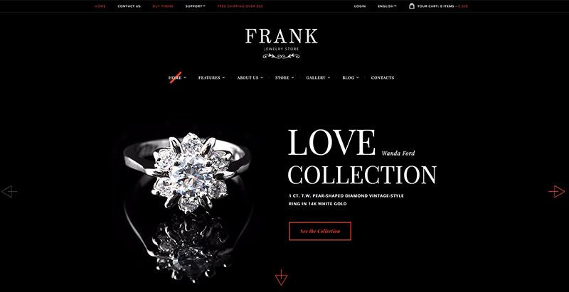 Frank Jewelry Themes Wordpress Creer Site Web Vendre Bijoux Bijouterie Joaillerie