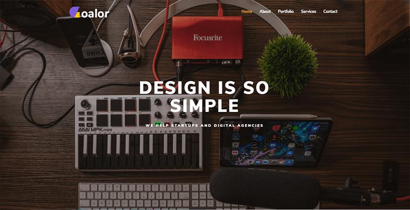Goalor theme wordpress créer site web portfolio