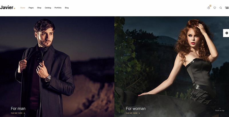 Javier themes wordpress creer site web pret a porter boutique en ligne