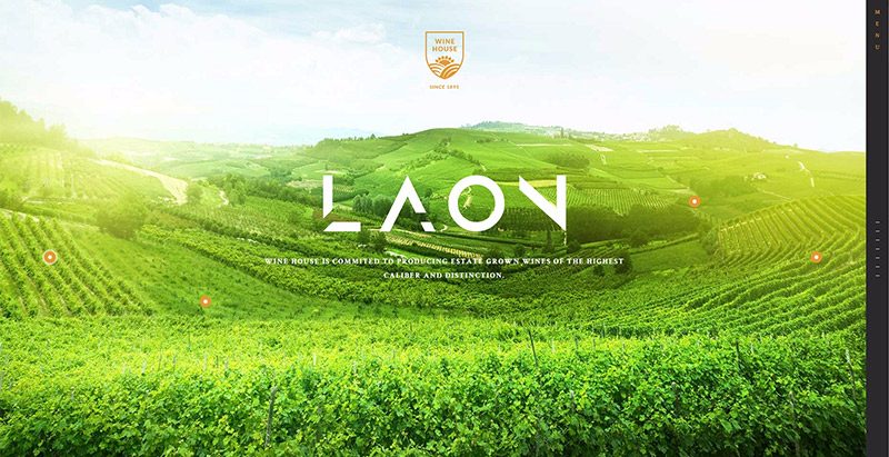Laon themes wordpress creer site web vente vin viticulture