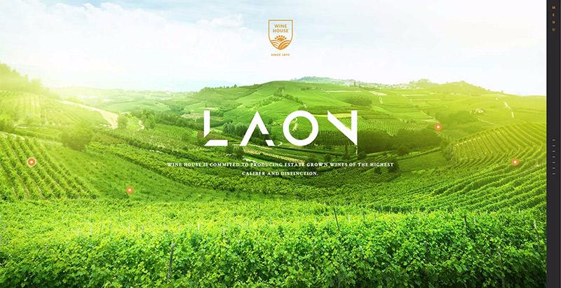 Laon themes wordpress creer site web vente vin viticulture