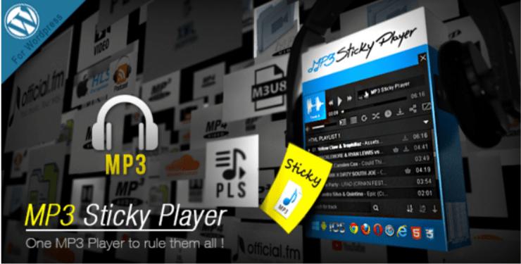 Mp3 sticky player