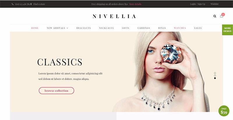 Nitro themes wordpress creer site web vendre bijoux bijouterie joaillerie