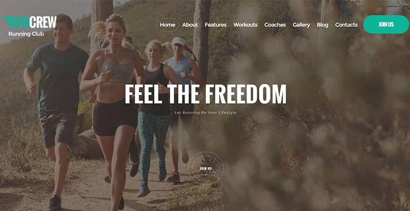 Runcrew Themes Wordpress Creer Site Web Club Fitness