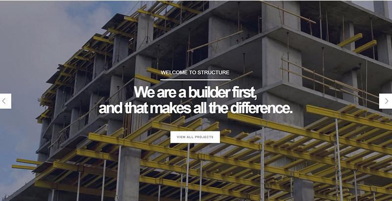 Structure themes wordpress creer site web entreprise construction architecte