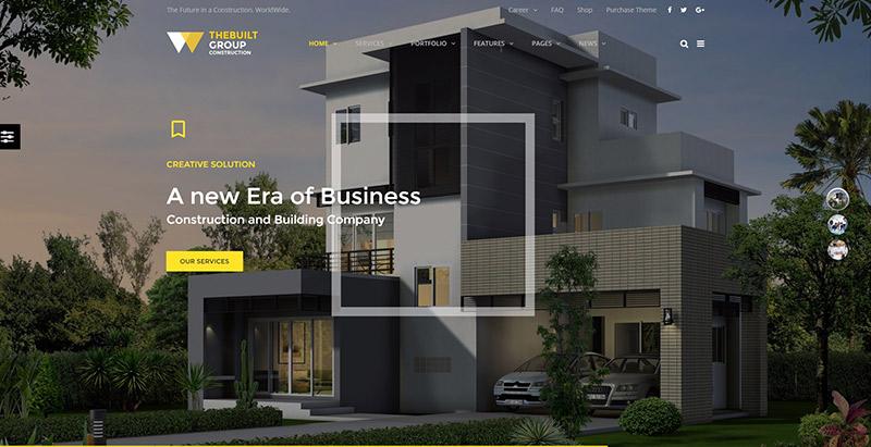 Thebuilt themes wordpress creer site web entreprise construction architecte