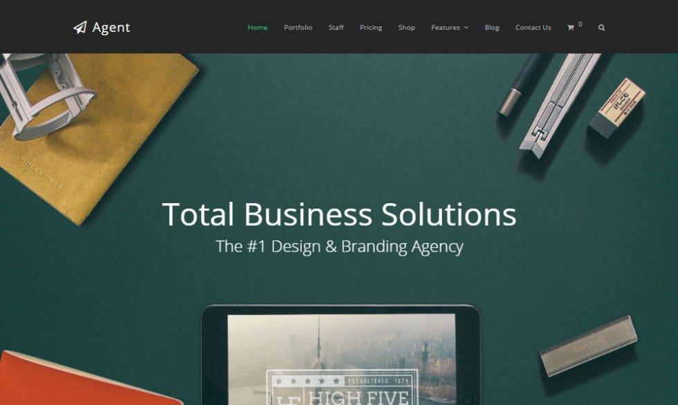 Total wordpress theme revue agent demo