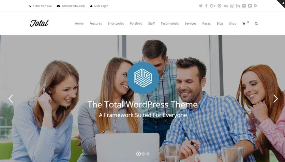 Total wordpress theme revue base