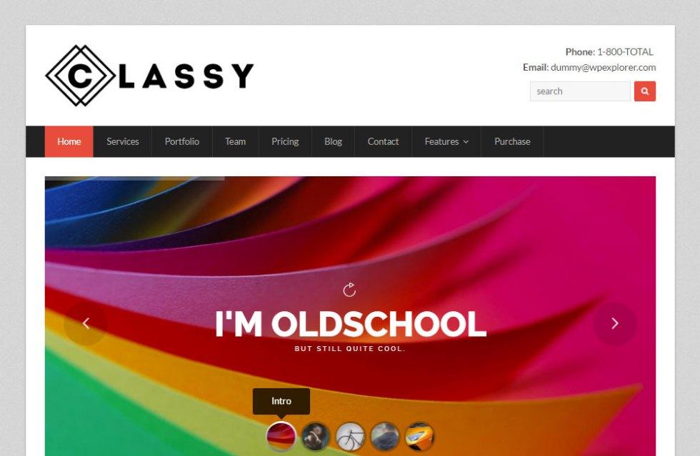 Total wordpress theme revueclassy demo