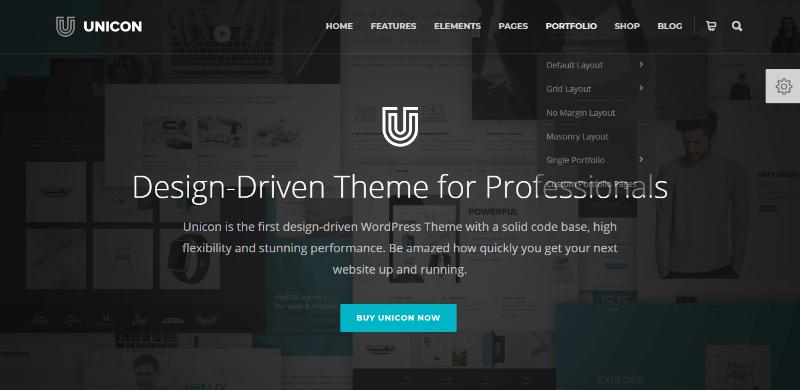 Unicon themes wordpress creer site web entreprise numerique digital creative hebergement referencement