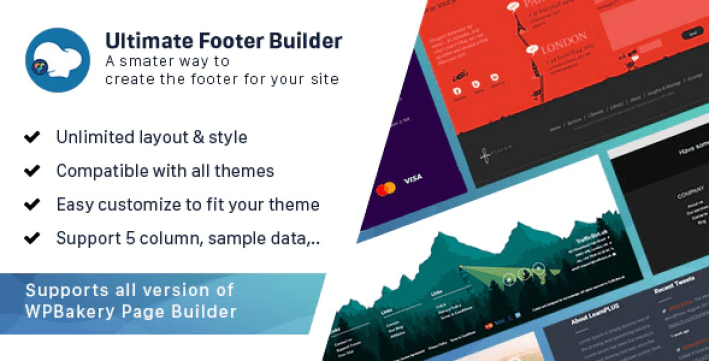 personnaliser votre pied de page - Ultimate footer builder addon wpbakery page builder formerly visual composer plugin wordpress