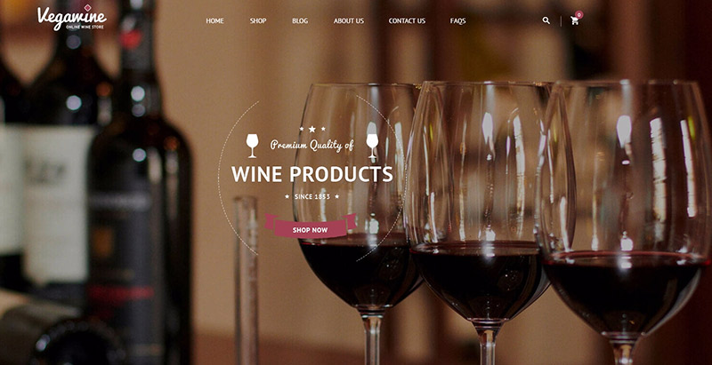 Vegawine themes wordpress creer site web vente vin viticulture