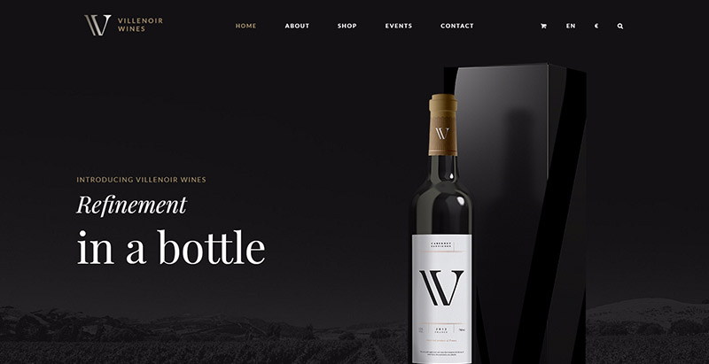 Villenoir themes wordpress creer site web vente vin viticulture