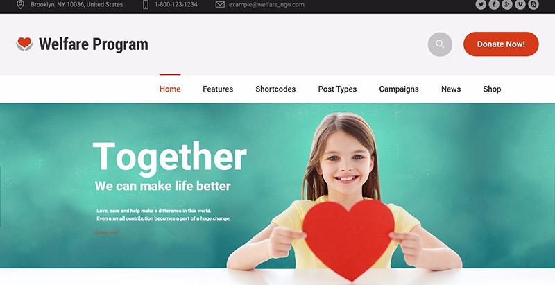 10 Temas de WordPress para crear un sitio web ONG | BlogPasCher