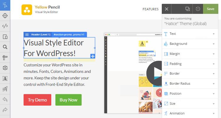 Yellow pencil tutoriel wordpress