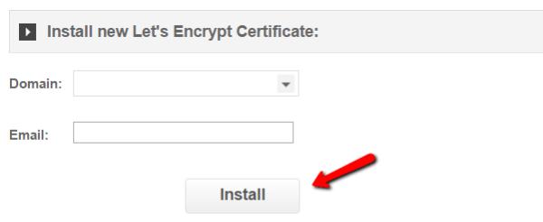 Choisir un domaine let encrypt