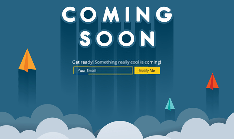 créer une page de maintenance coming soon 2