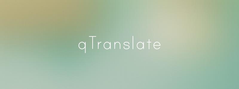 Qtranslate free translation wordpress plugin