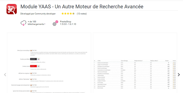 Yet another advanced search plugin prestashop pour recherche