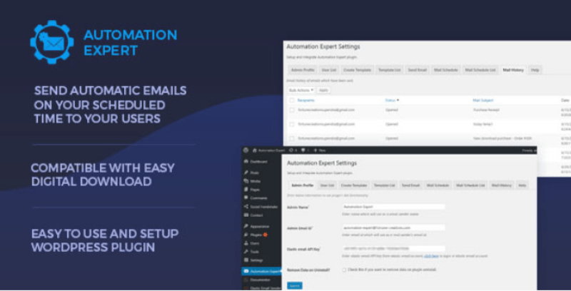 Automation expert send automatic emails to users