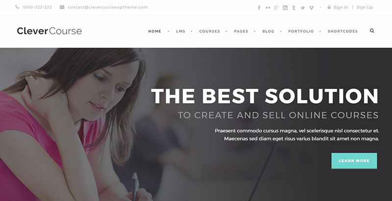 Clever course themes wordpress creer site web elearning education enseignement apprentissage