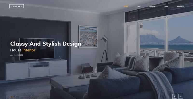 créer un site web de décoration d'intérieure - Funture