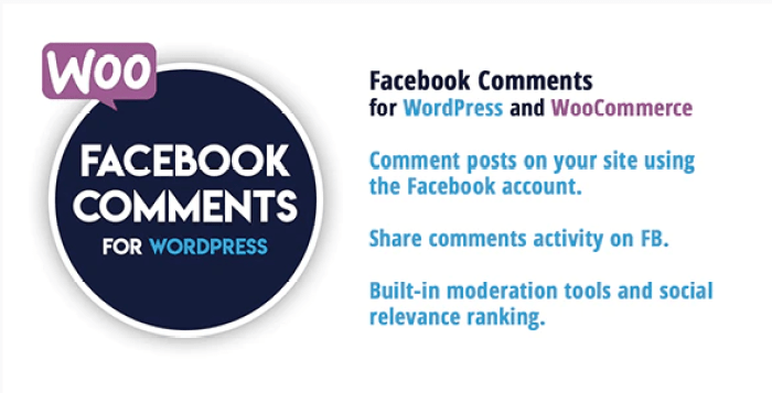 Facebook comments for wordpress and woocommerce plugin wordpress