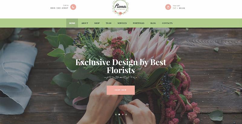 Flowers boutique themes wordpress creer site web fleuriste jardinier