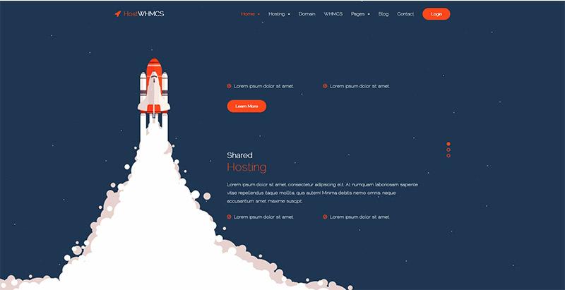 Hostwhmcs themes wordpress creer site entreprise hebergement web