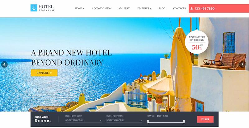 Темы бронирования отелей WordPress создать сайт отель туристическое агентство туризм