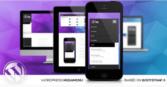 Menu mega đáp ứng Lmm wordpress dựa trên bootstrap
