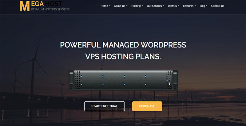 Megahost theme wordpress creer site internet entreprise hebergement web