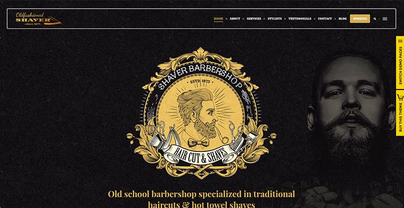 Shaver themes wordpress creer site web salon coiffure spa beaute