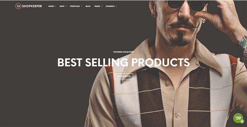 thèmes WordPress pour créer un site web d'e-Commerce Shopkeeper