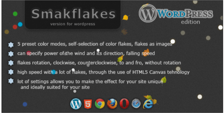 Smakflakes các mảnh khác nhau cho wordpress