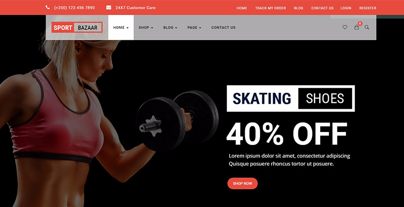 Sport bazzar themes wordpress creer boutique ligne ecommerce
