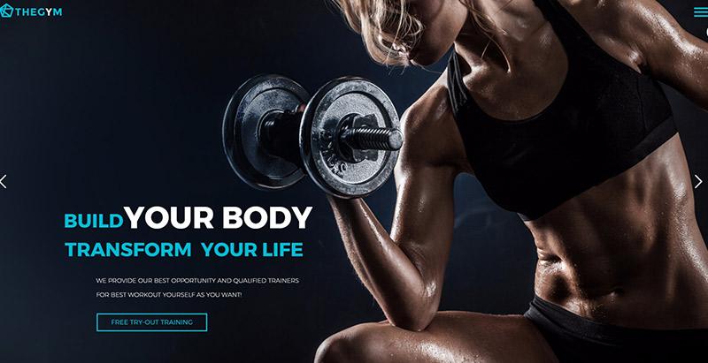 Thegem themes wordpress creer site web fitness sport yoga athlete equipe