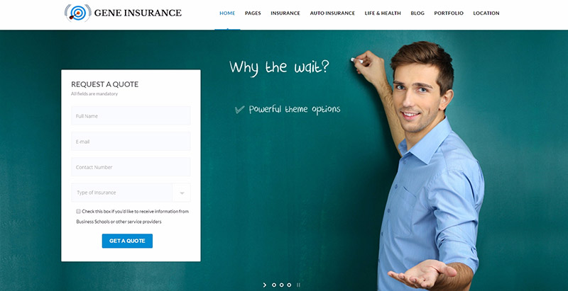 Veda themes wordpress creer site web compagnie assurance