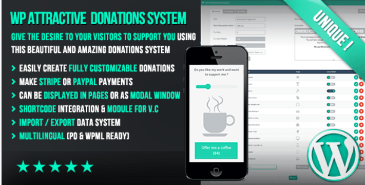 Wp attractive donations system easy stripe paypal donations