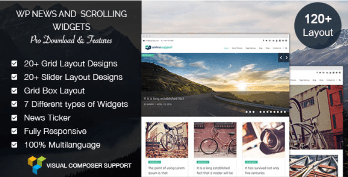 Wp news and scrolling widgets pro