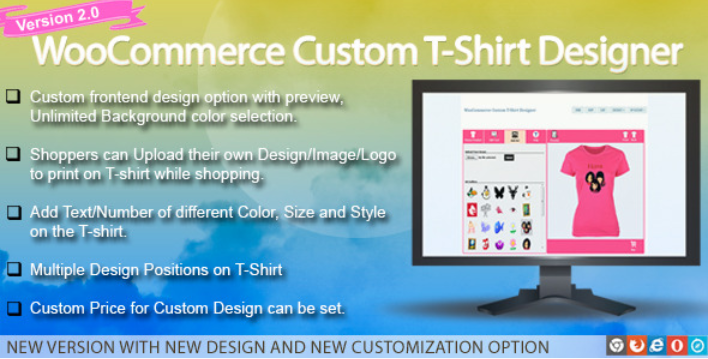 Woocommerce custom t shirt designer