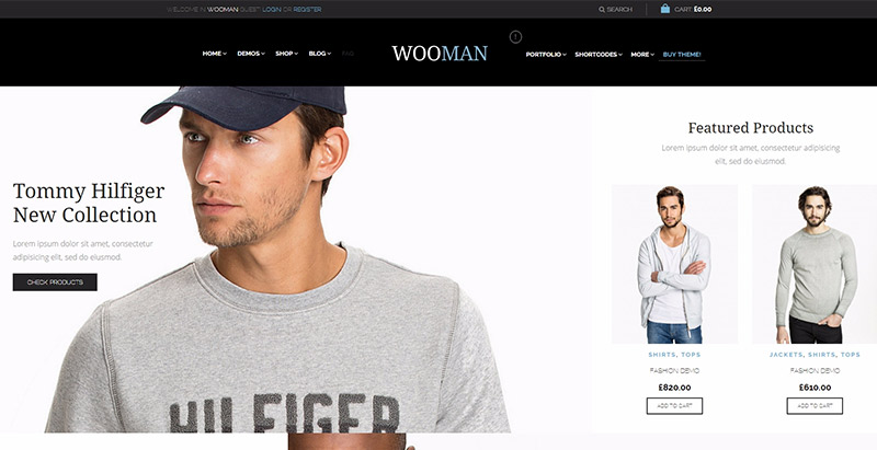 Woopress themes wordpress creer site web ecommerce commerce electronique