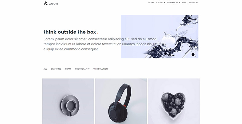Xeon themes wordpress creer site web freelance agence creative