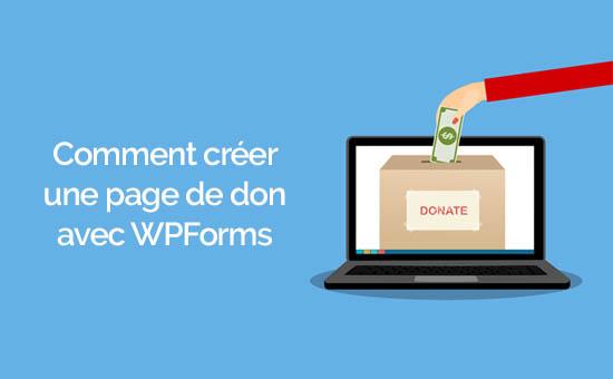 Créer une page de don sur wordpress