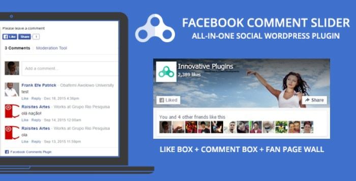 Facebook comment slider plugin wordpress pour commentaires facebook